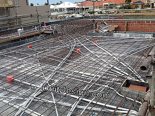 To install a floor slab on manuportables beams