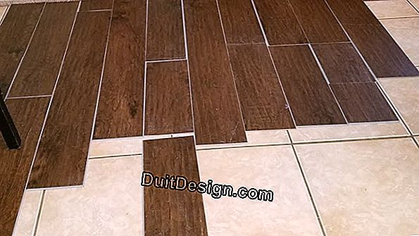 Lay tile on wood floor