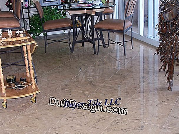 Lay tile on a cracked and cracked screed