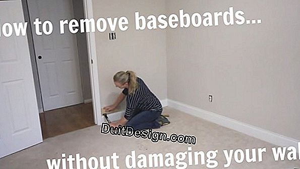 Take off tile baseboards