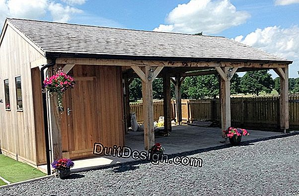 Garden shed with carport
