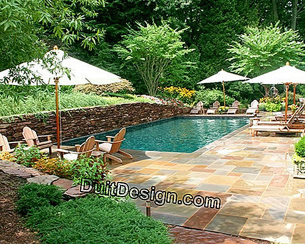 Garden with swimming pool: ask a landscaper