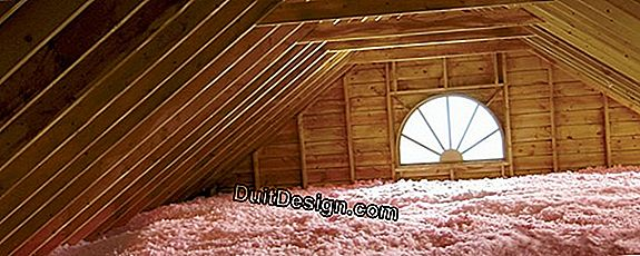 Attic insulation: improvement