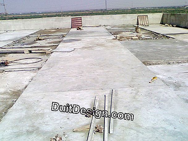Dosage of a screed on a concrete slab