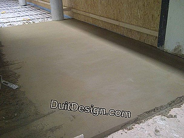 Cement screed on sand