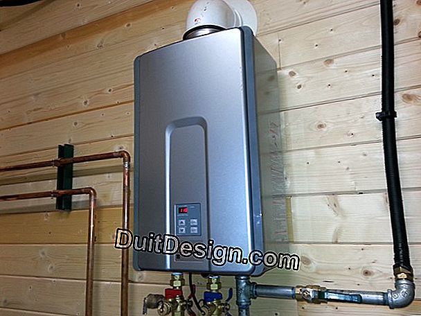 Wall installation of a water heater