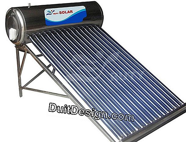 The solar water heater