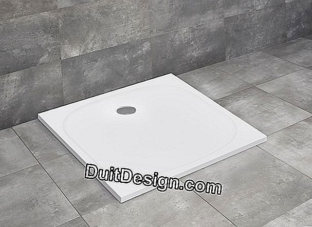Embed a shower tray