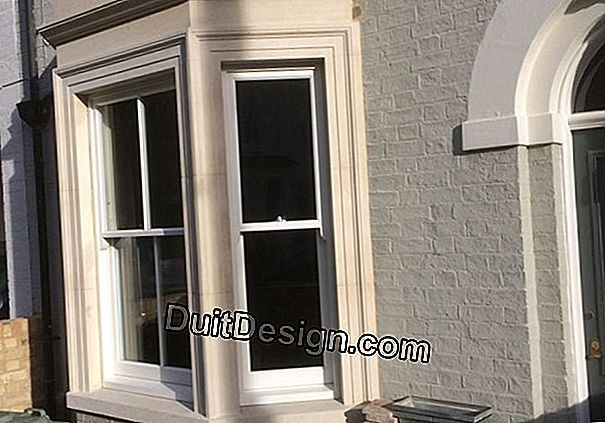 Create a bay window in a stone facade