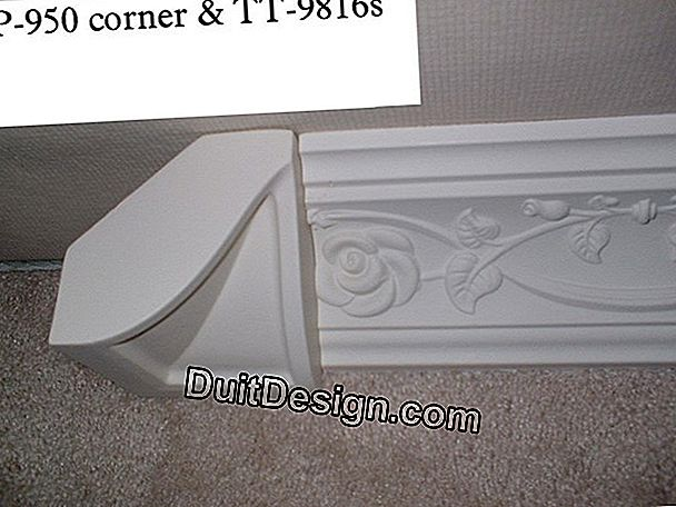 Decoration and moldings: laying corner cornices