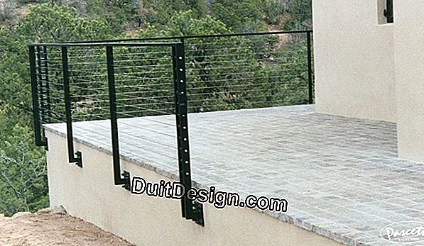 Fit a railing with cable rails