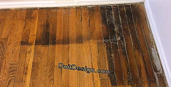 Remove black stains from terraced slabs