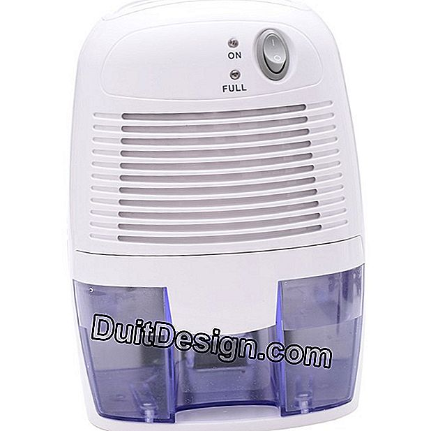 Professional electric dehumidifier for wet rooms