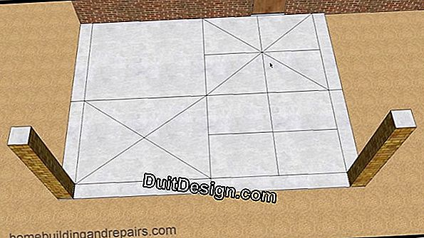 Make the joints of a tile
