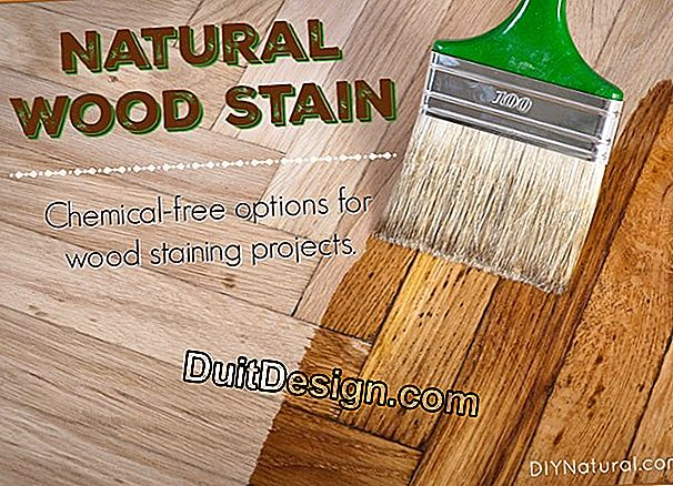 How to stain wood with a natural product