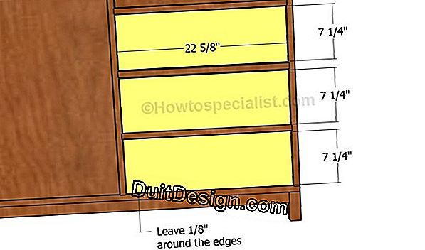 Make a wooden secretary with drawers