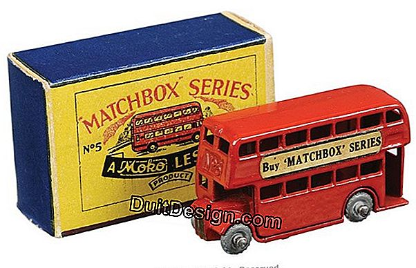 A toy box in the shape of a London bus