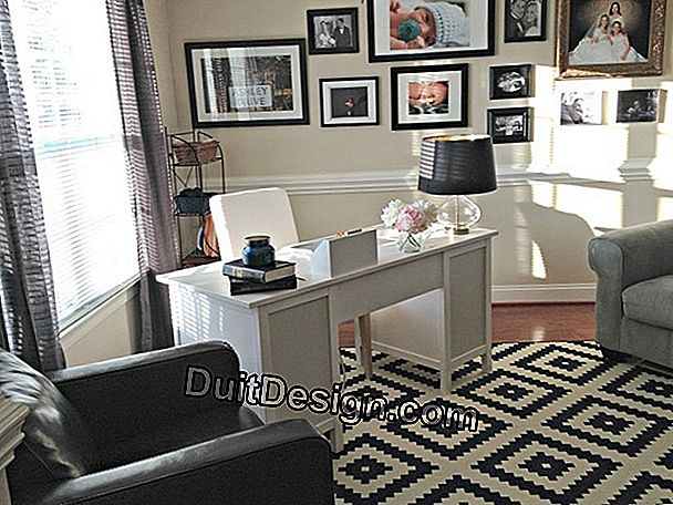 Set up an office area in your living room
