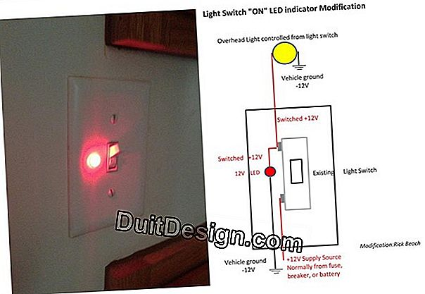 Connect a switch with indicator light
