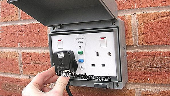 Install a waterproof switch and socket