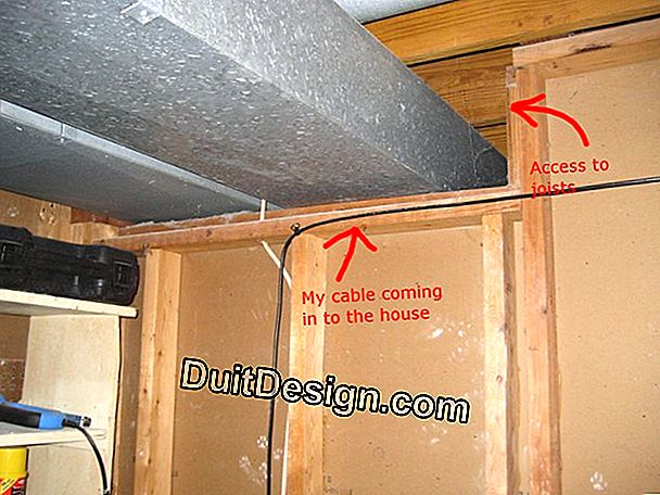 Pass an electrical network in existing ducts