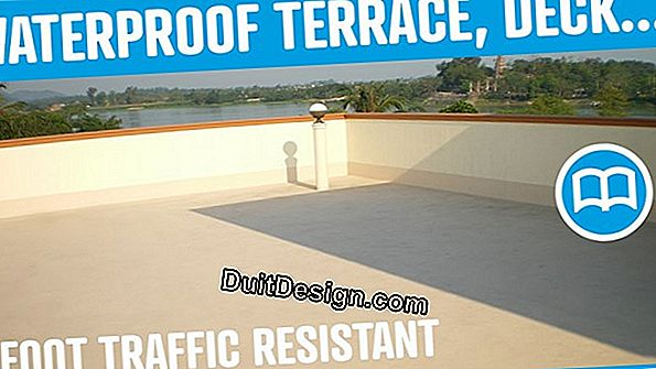 Waterproof a terrace with a liquid membrane