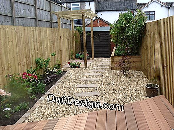 Make a gravelled walkway