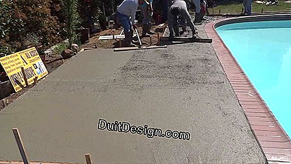 How to make a concrete slab around a pool?