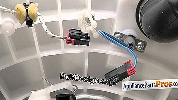 Replace the temperature sensor of a washing machine