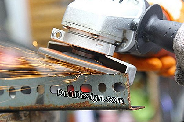 Use an angle grinder