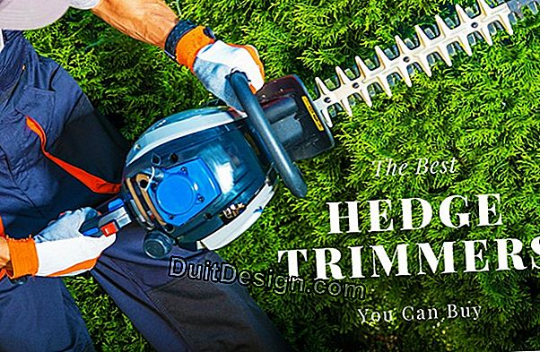 Buy a hedge trimmer adapted to your needs