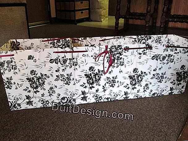 Easy DIY: decorate a trunk with paper towels