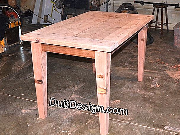 Make a wooden table top