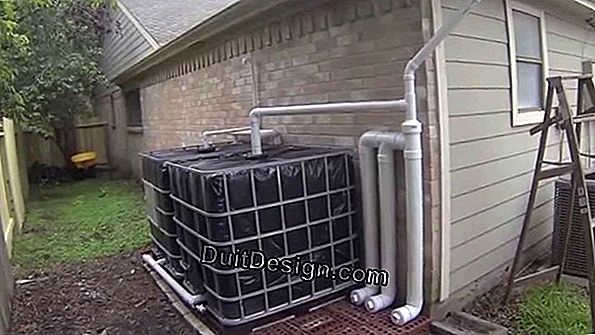 Collect rainwater: install an overhead tank