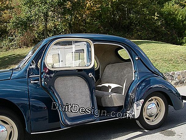 The renovation of a Renault 4 CV