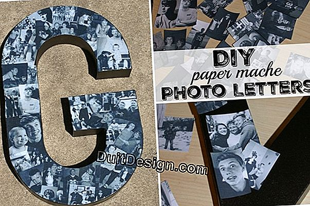 DIY tutorial: how to decorate with letters