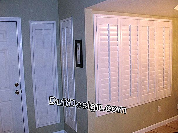 Defects of aspect of shutters under guarantee