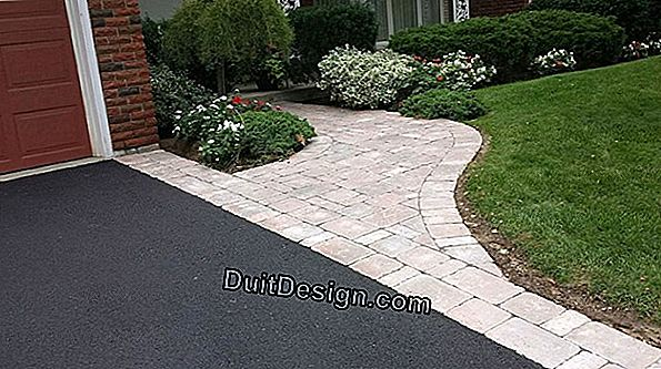 Paving outdoors, in a yard or driveway