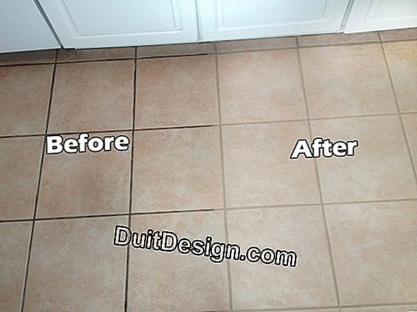 Clean dirty joints with tiles