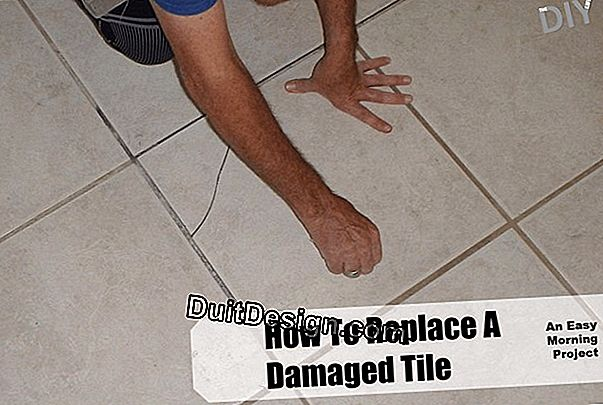 How to replace a damaged tile?