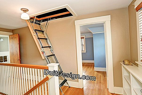 Install a staircase to access an attic