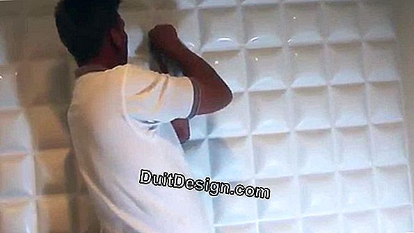 The installation of 3D wall panels