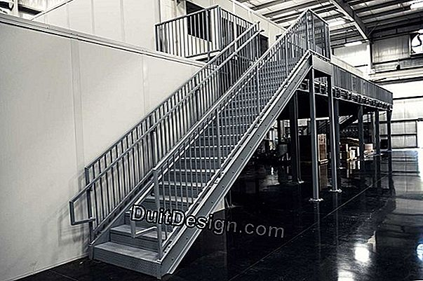 The metal staircase