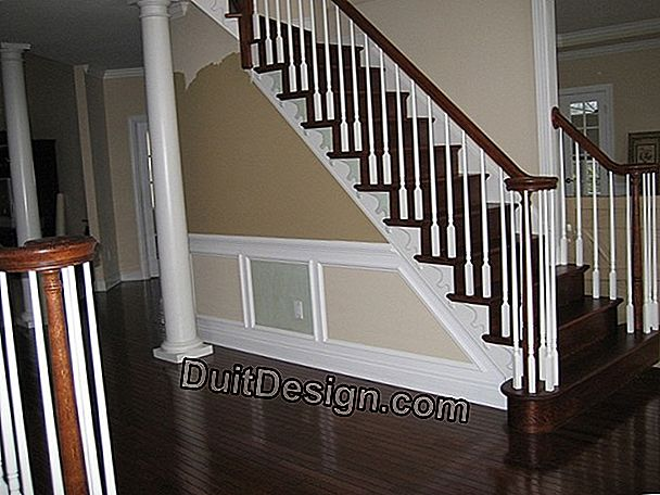 The stair railing