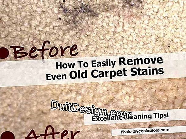 Remove a stain on a carpet