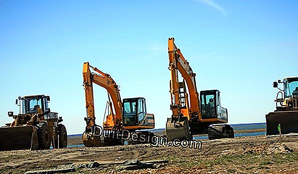 Rent equipment for earthworks