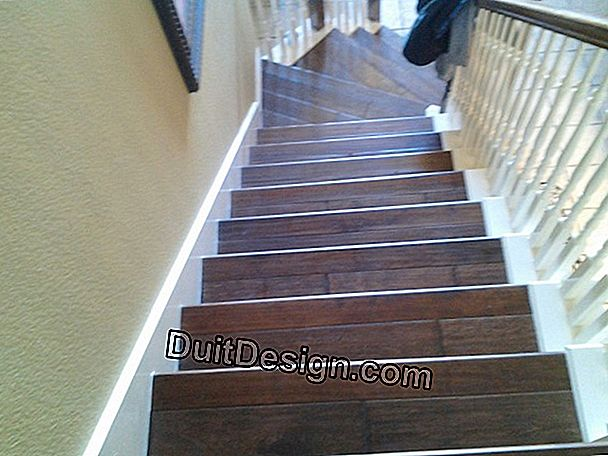 The staircase in parquet or laminate