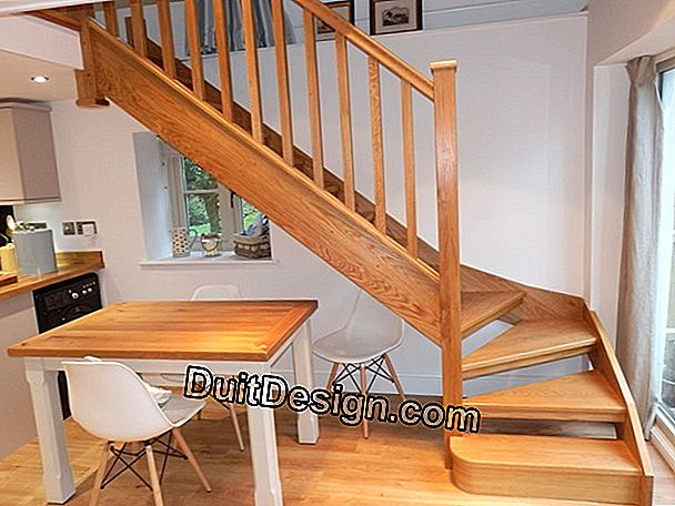 A staircase without risers