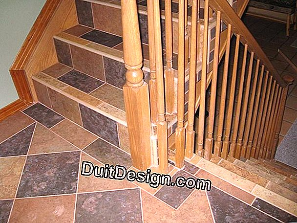 The tile staircase