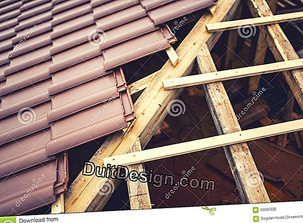 The structure of a classic roof
